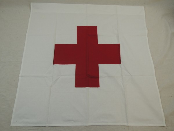 Rot Kreuz Fahne mit Schlaufe / Red Cross Flag