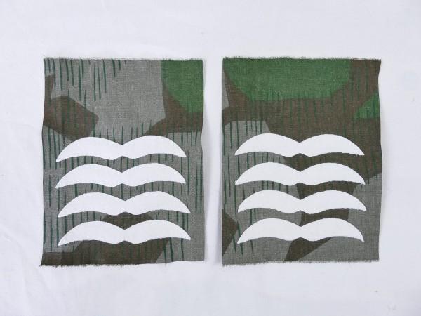 Luftwaffe Dienstgrad Abzeichen OBERFELDWEBEL auf TARNSTOFF Knochensack Fallschirmjäger