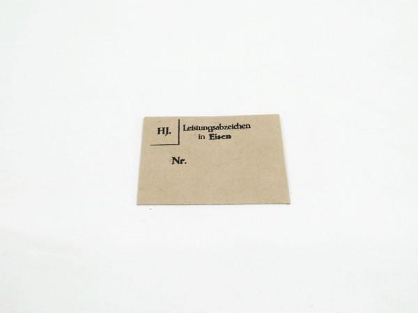 """Verleihungstüte für Orden """"Leistungsabzeichen in Eisen der HJ"""""""