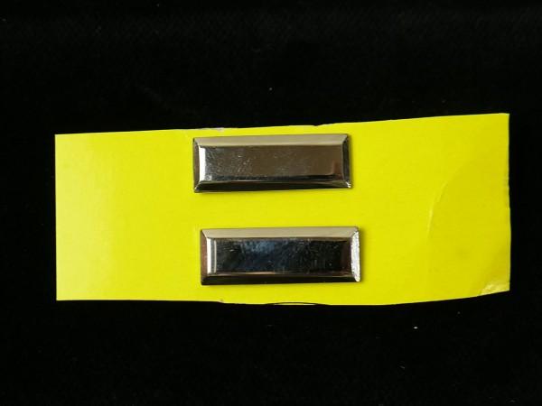 US LIEUTENANT BARS 1xPaar Stufe Silber Rangabzeichen