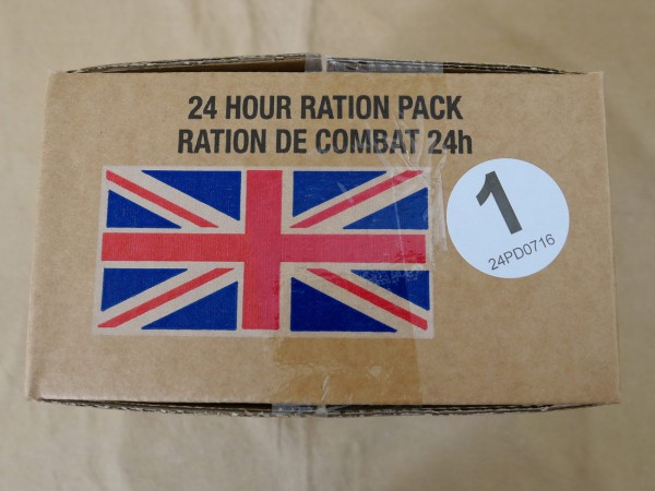 Menue #01 GB ARMY 24 Hour Combat Ration MRE EPA SURVIVAL Notration Verpflegung