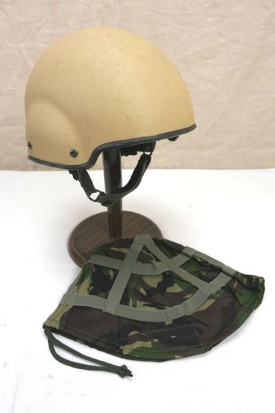 British Army Combat MK7 Gefechtshelm GB Medium + Helmbezug / Helmet Cover woodland