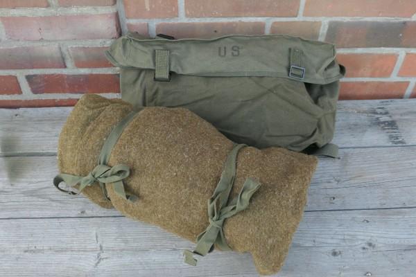 Original US Gepäck - Kampftasche Pack Field Cargo M-1945 mit WW2 US Schlafsack Wolle #2