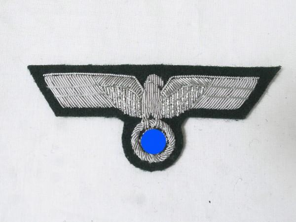 Uniform Offiziers Brustadler M36 Silberfaden gestickt für Feldbluse Variante