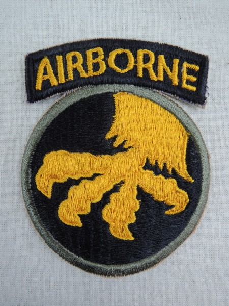 US WW2 Patch 17th Airborne Division Paratrooper