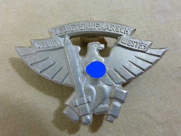 Tagungsabzeichen Abzeichen Gebietsaufmarsch Westf. 9