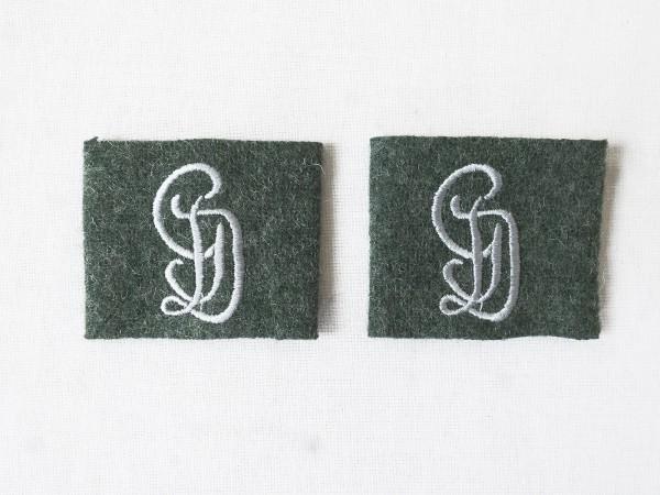 Wehrmacht Großdeutschland GD 1x Paar Aufschübe für Schulterklappen Aufschieber