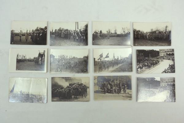 Postkarten Serie Fotos Kaiserreich Novemberrevolution 1. Weltkrieg 1918/19