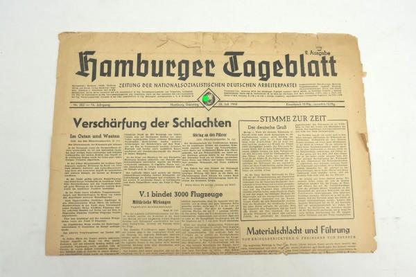 WK2 Tageszeitung Hamburger Tageblatt Zeitung 25.Juli 1944